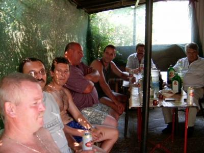 Hajdúszoboszlói csoporttal a Keleti-csatornánál vizsga után